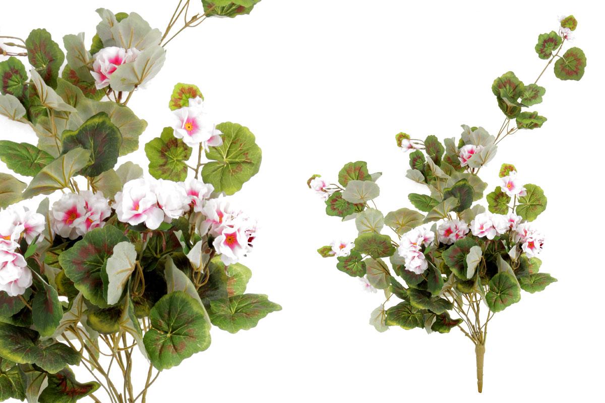 Umělá květina, muškát, barva bílá