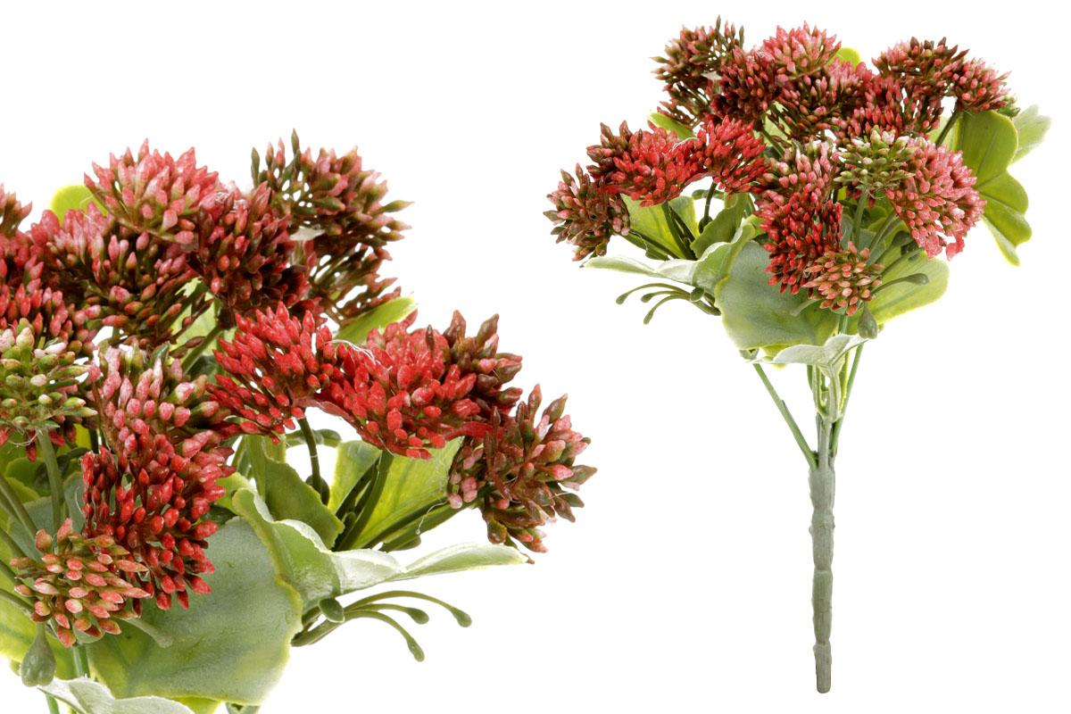 Umělá květina,  puget jetele pochybného, barva červená temná
