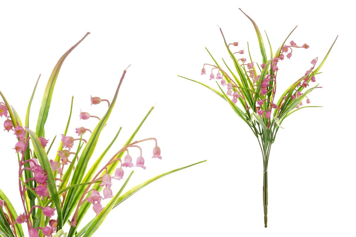 Umělá květina, puget konvalinek, barva fialová