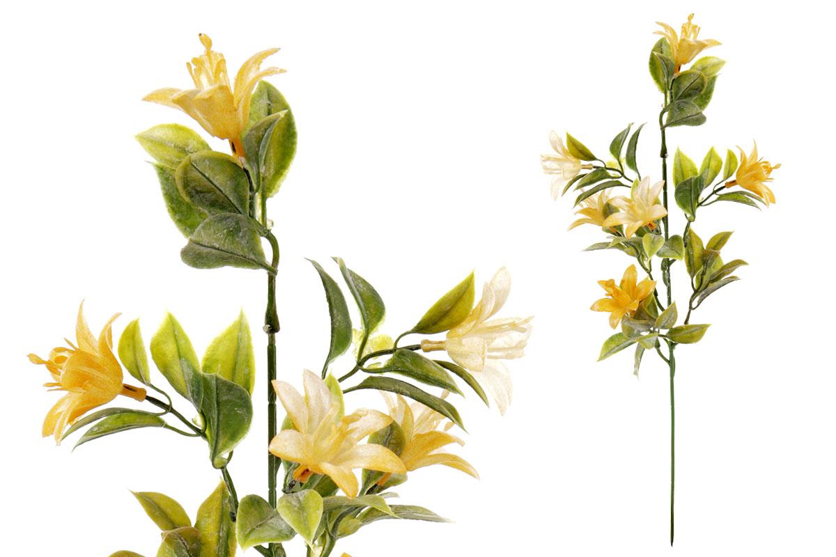 Umělá květina, lilie ,  barva oranžová