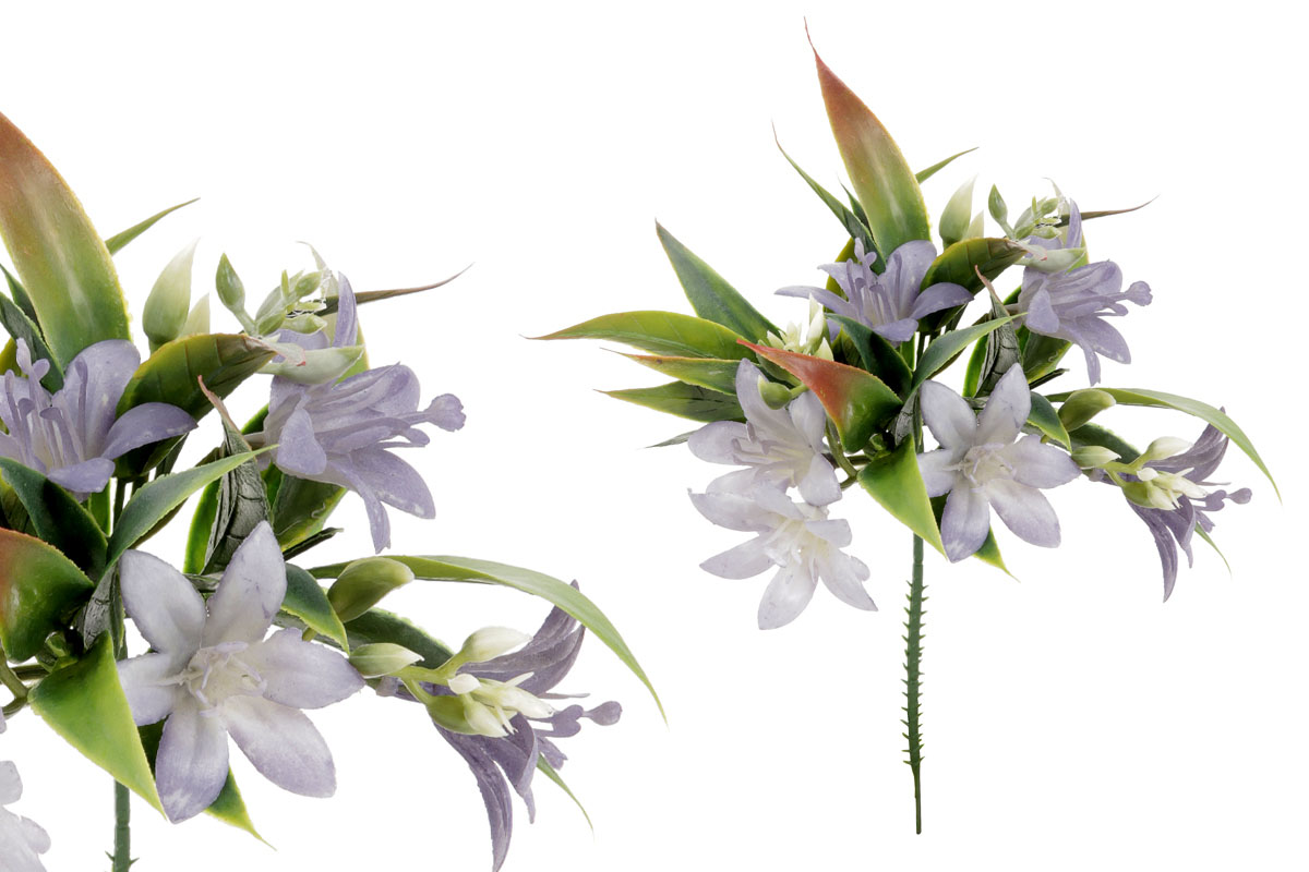 Umělá květina, zvonečky, barva lila