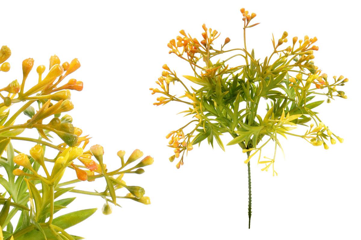 Umělá květina, vřes, barva oranžová