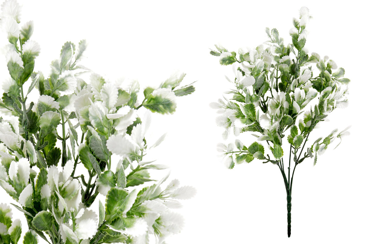 Umělá květina, barva zeleno-bílá