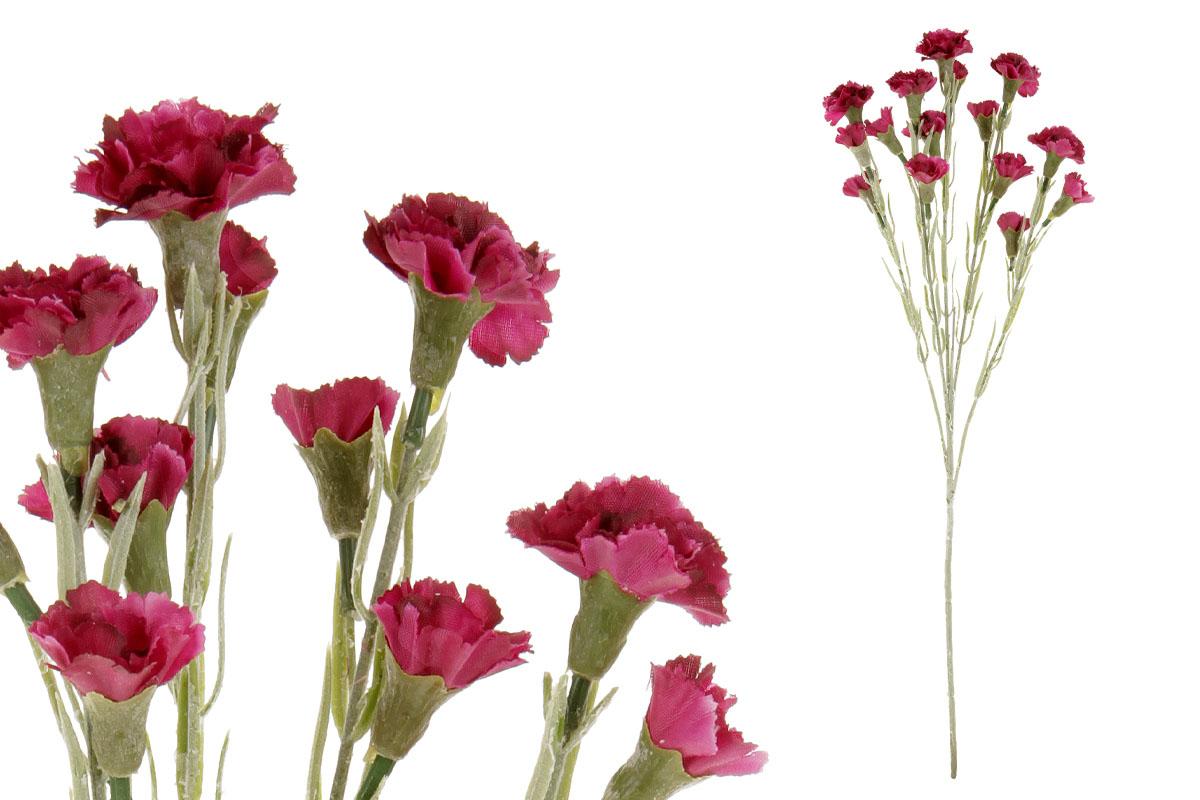 Umělá květina, mini karafiát, barva bordo
