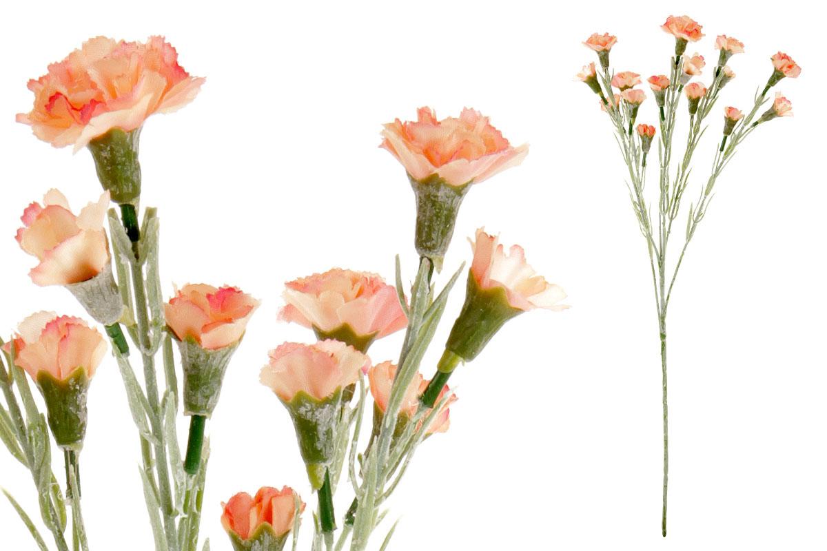 Umělá květina, mini karafiát, barva oranžová