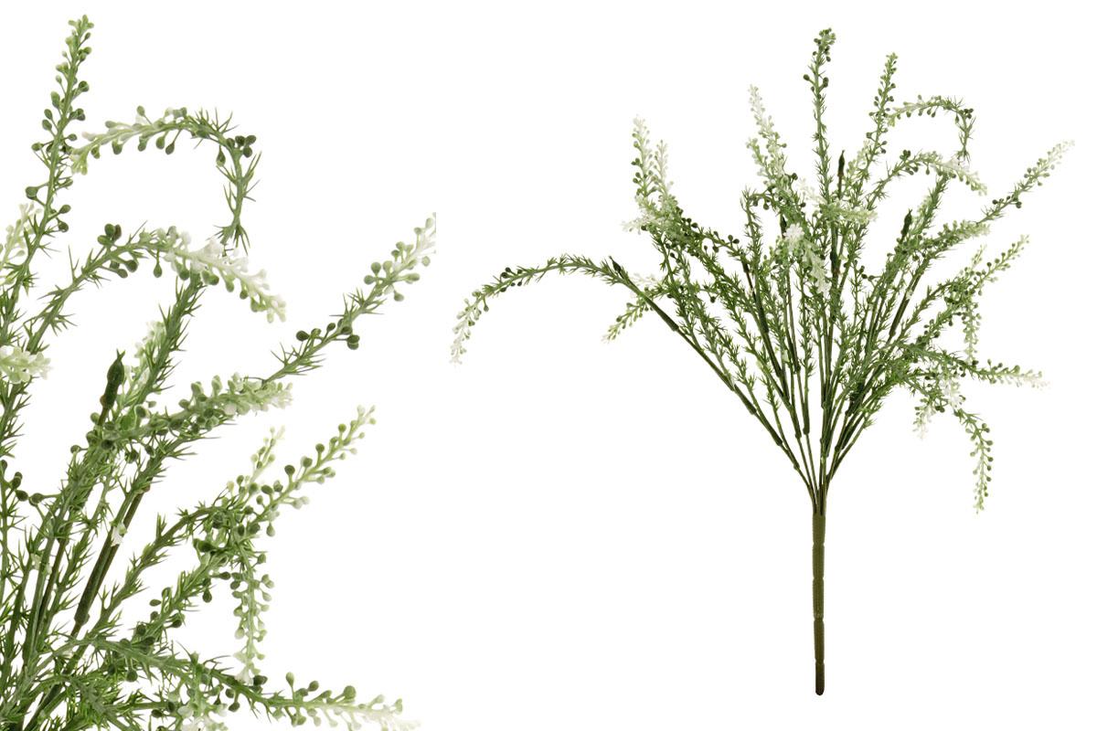 Umělá květina, vřes, barva zeleno-bílá