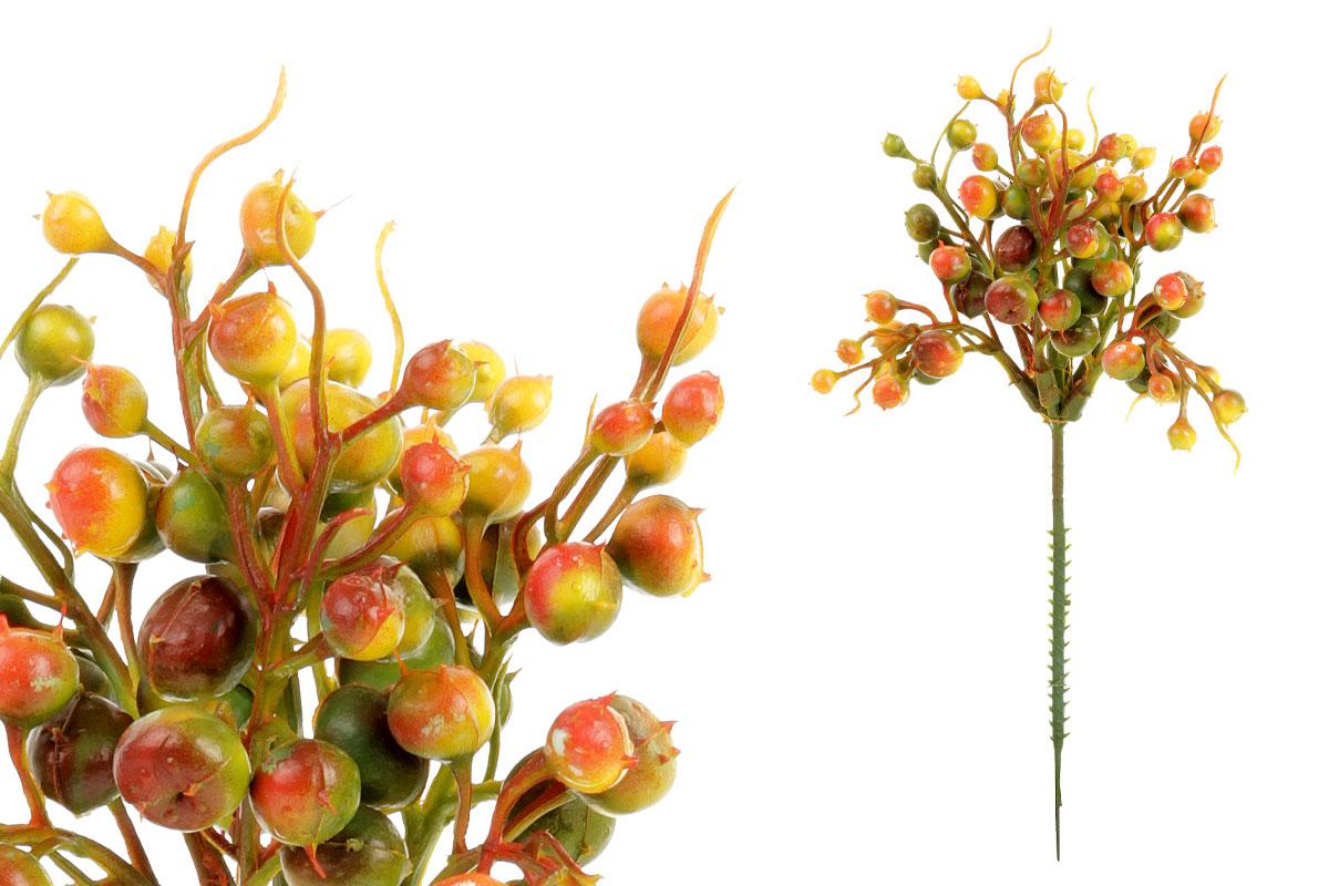 Umělá květina, barva oranžová