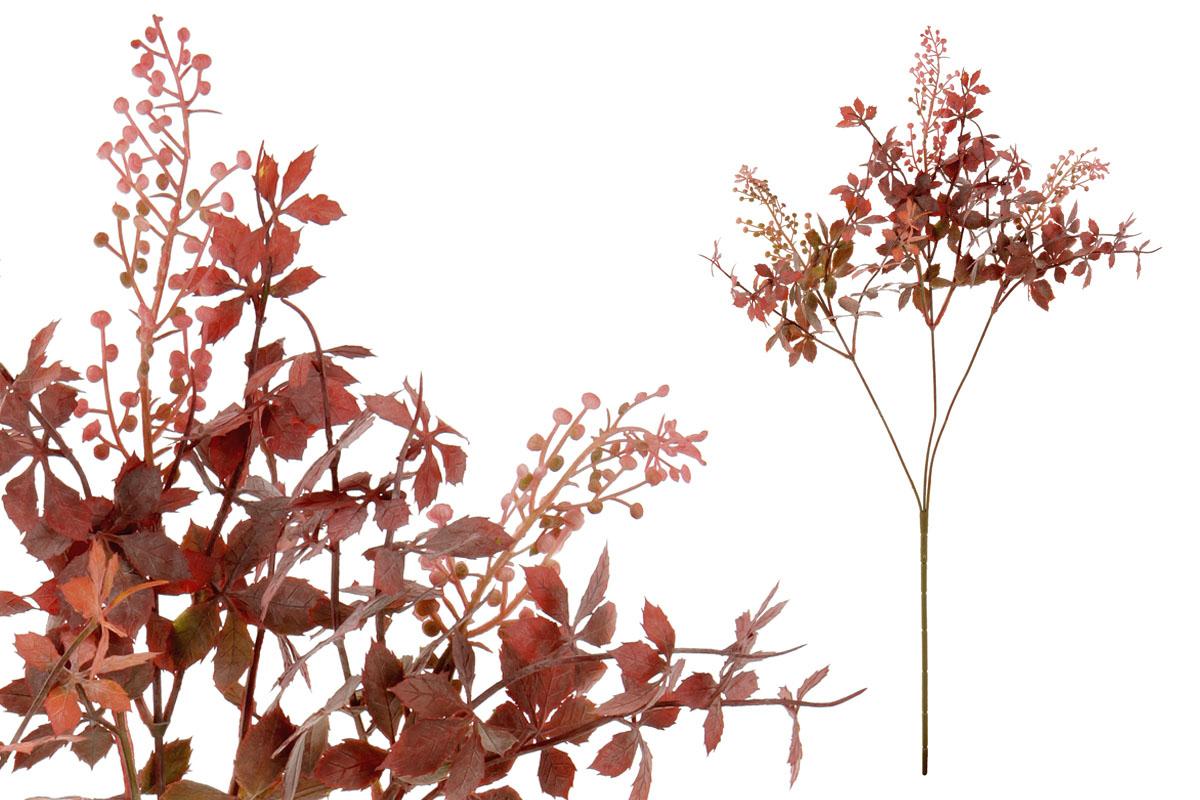 Umělá květina, barva červená temná