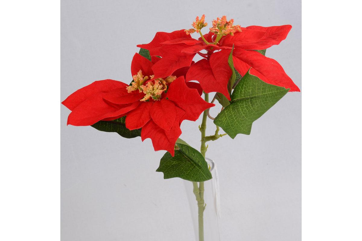 Poinsécie, vánoční růže, umělá květina , barva červená