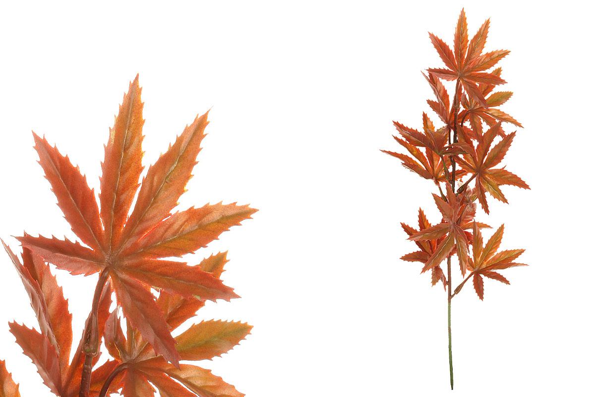 Javor dlanitolistý, barva zelená.  Květina umělá plastová.