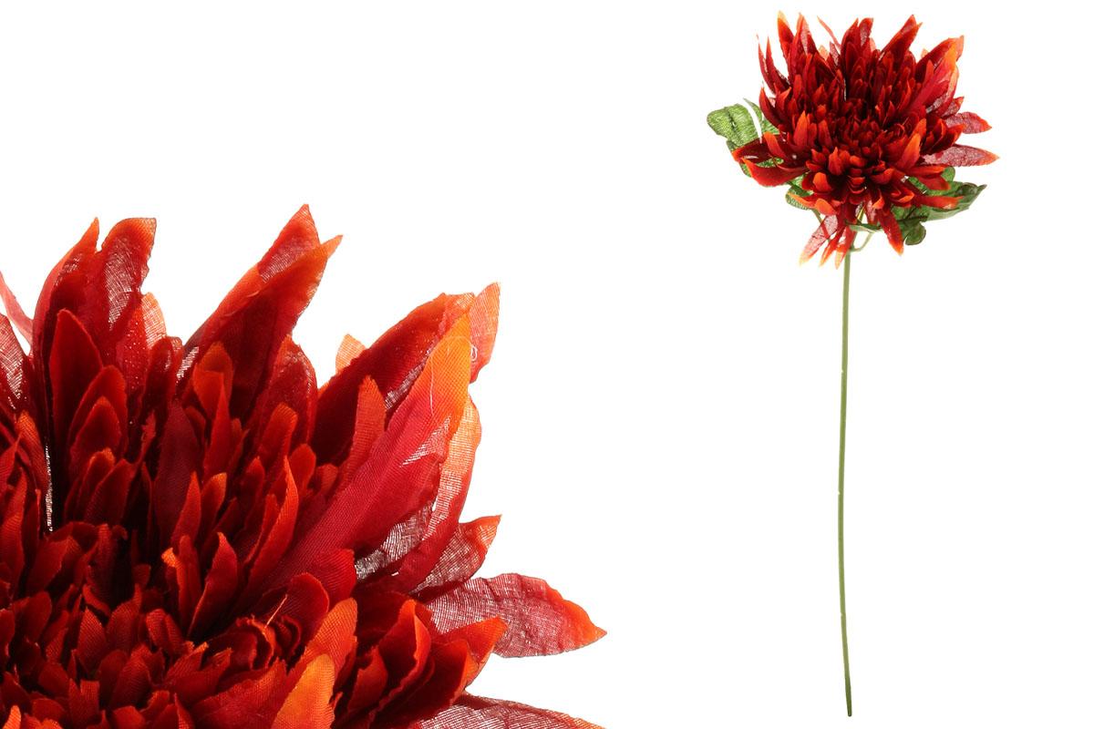 Chryzantéma, barva bordo. Květina umělá.