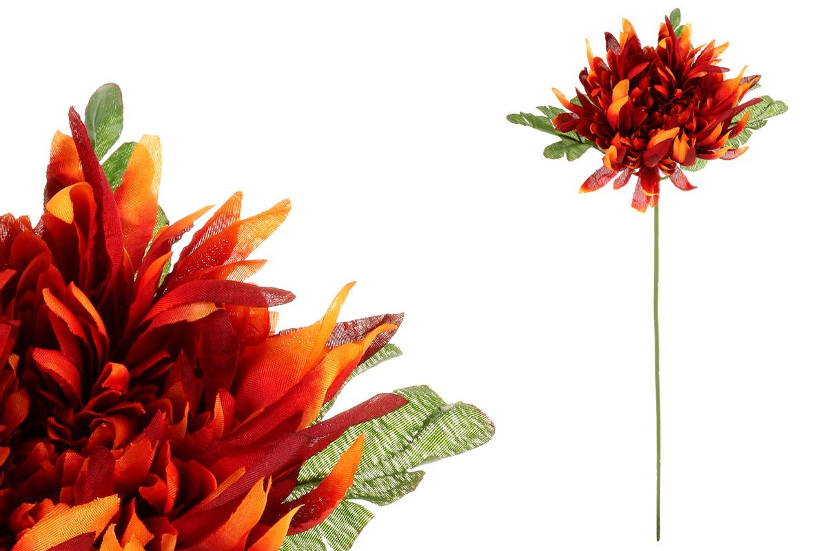 Chryzantéma, barva oranžovo-bordo. Květina umělá.
