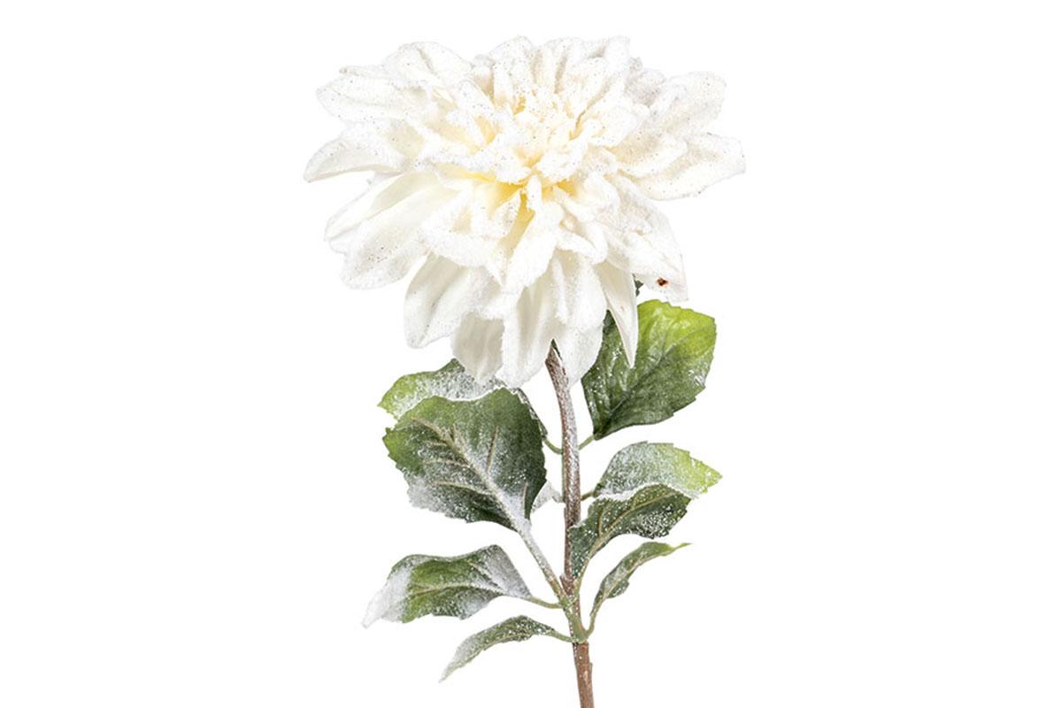 Umělá květina -  Jiřinka, barva bílá