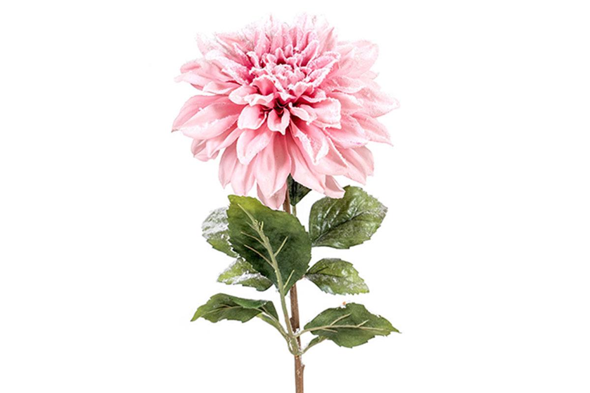 Umělá květina -  Jiřinka, barva světlá růžová