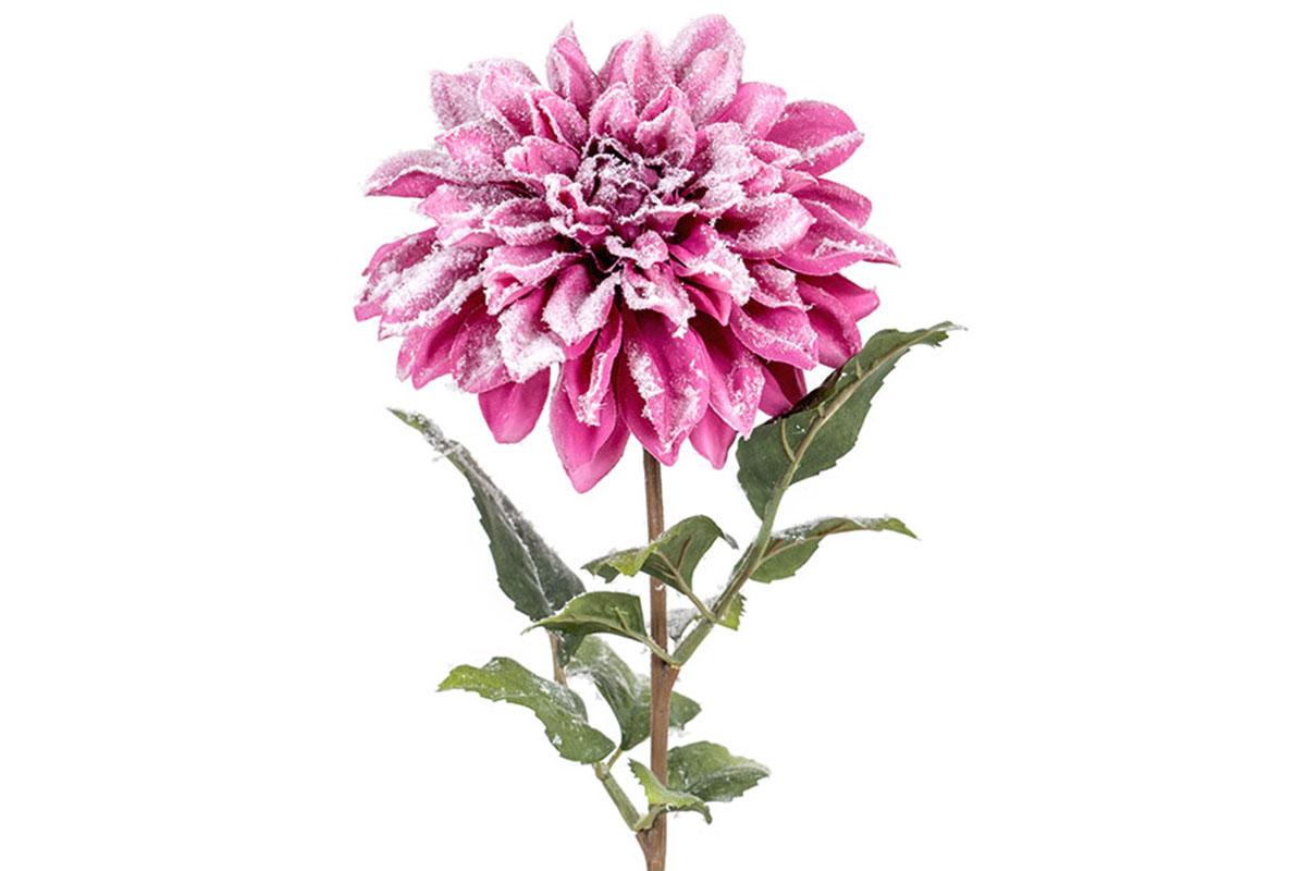 Umělá květina -  Jiřinka, barva tmavá růžová