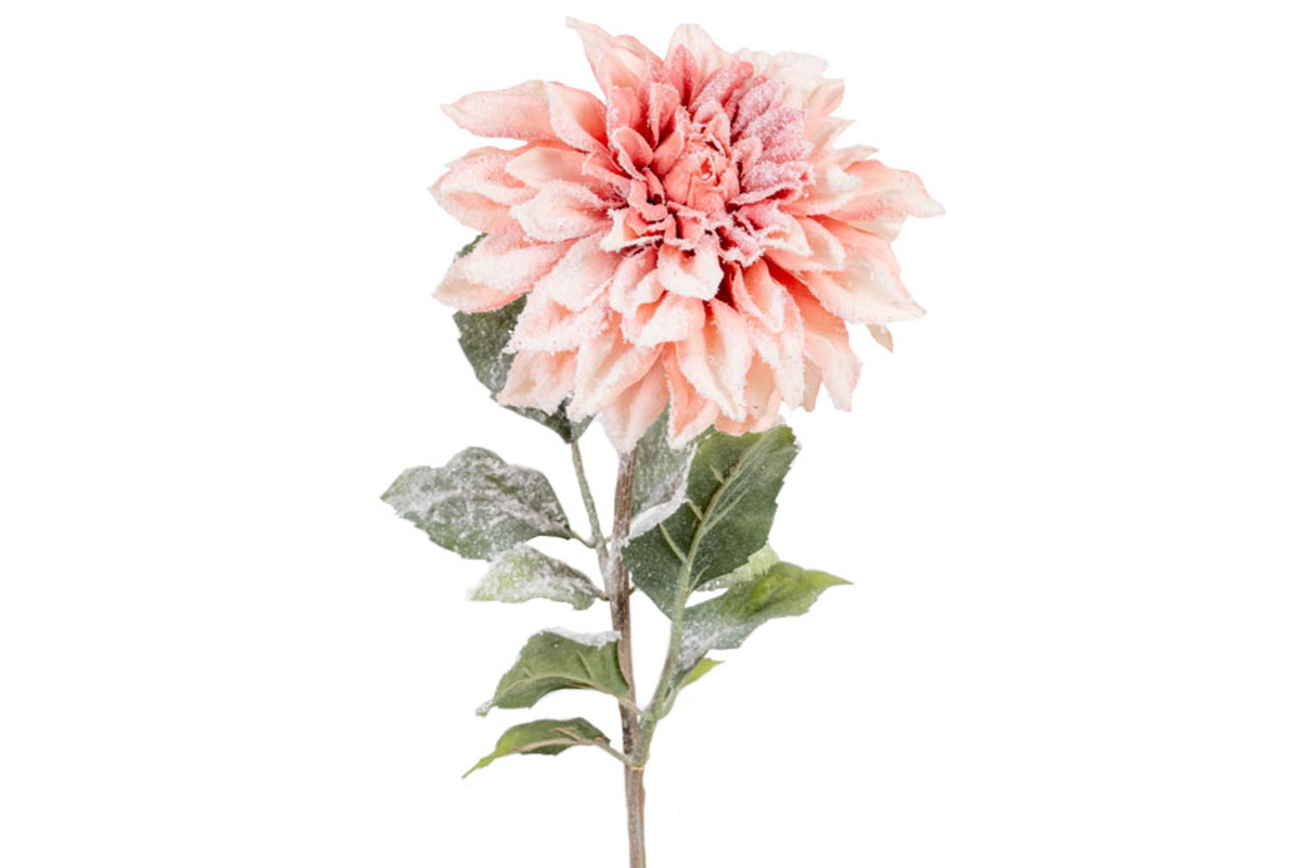 Umělá květina -  Jiřinka, barva losová