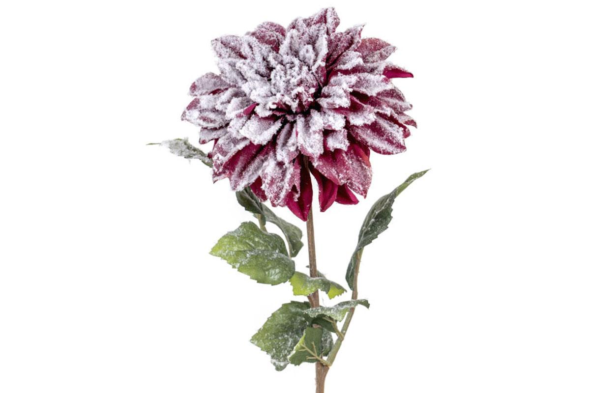Umělá květina -  Jiřinka, barva purpurová
