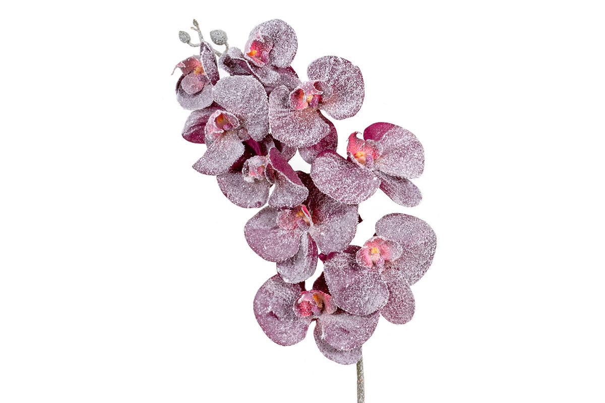 Umělá květina - Orchidej, barva purpurová