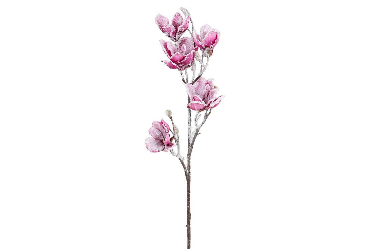 Umělá květina - Šácholan, barva tmavě  růžová