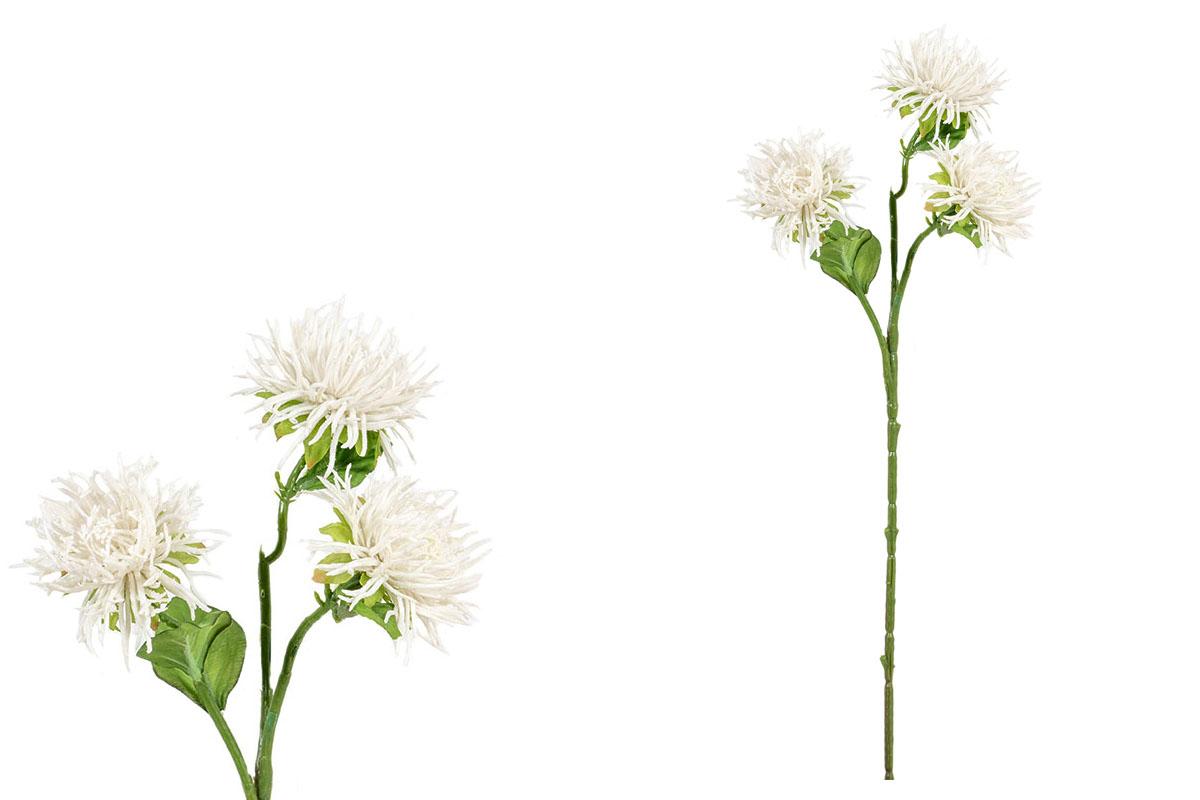 Umělá květina - Chryzantéma, barva bílá