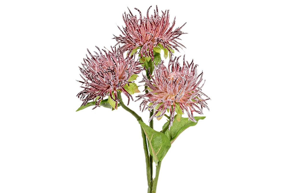 Umělá květina - Chryzantéma, barva purpurová