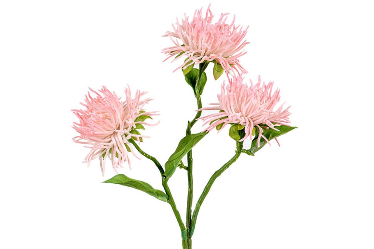 Umělá květina - Chryzantéma, barva tmavě bůžová