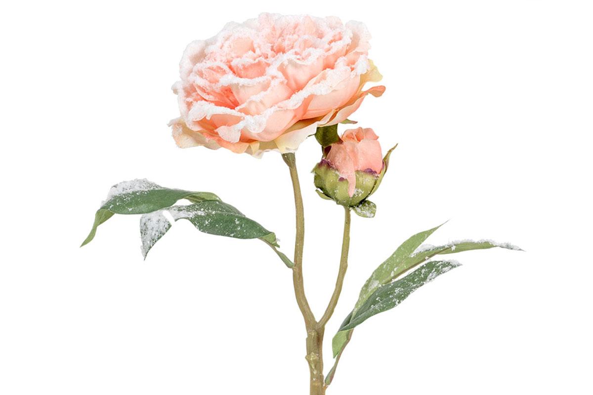 Umělá květina - Pivoňka  barva lososová