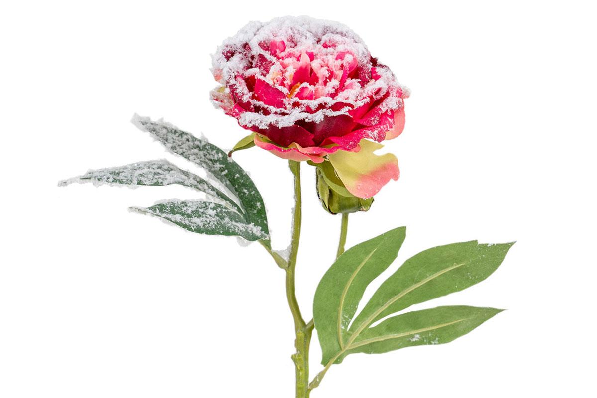 Umělá květina - Pivoňka  barva tmavě růžová