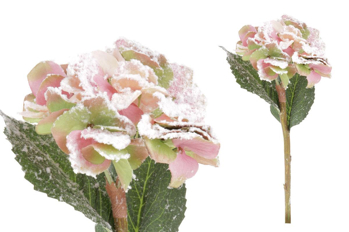 Umelý kvet - hortenzia farba zelenopurpurová
