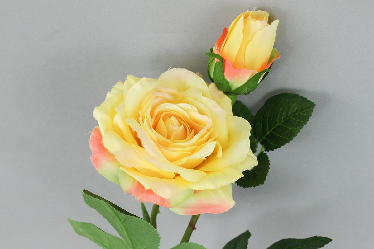 Růže umělá květina, barva žlutá