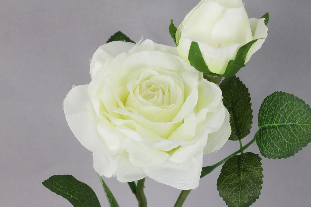 Růže umělá květina, barva krémová