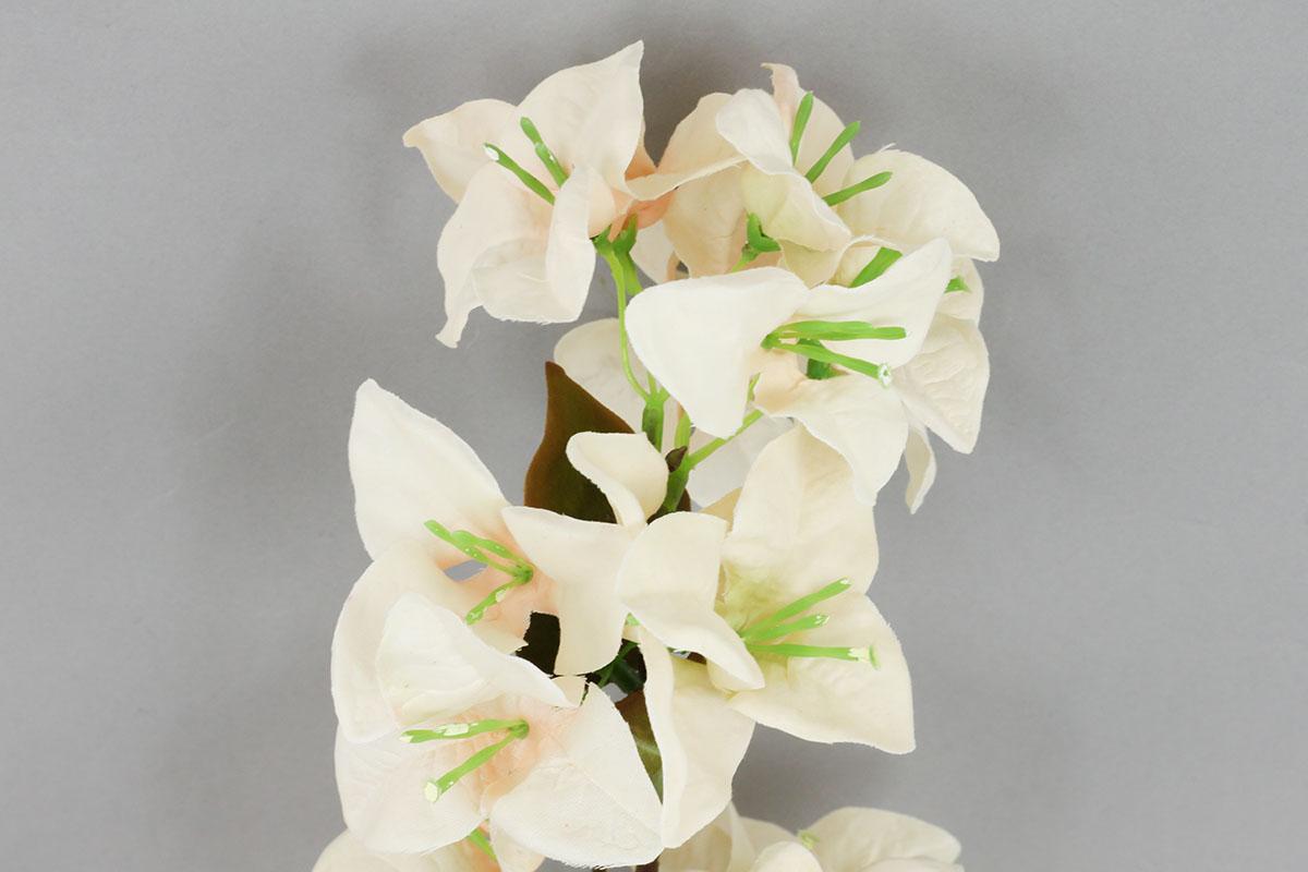 Bugenvilie umělá květina, barva krémová