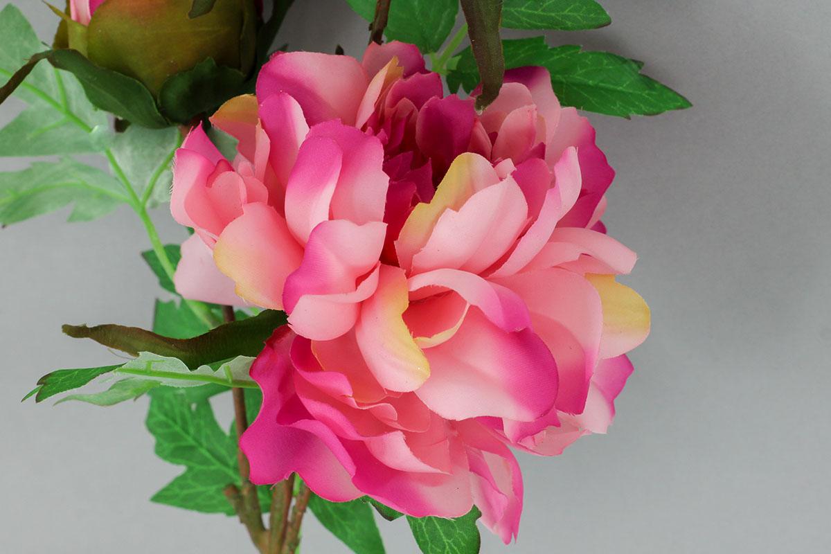 Pivónia, umelý kvet, farba tmavo ružová