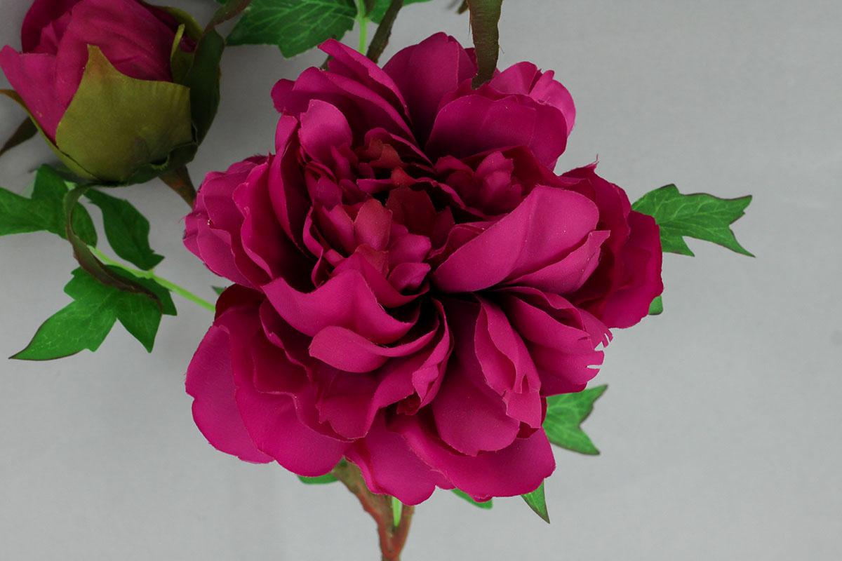Pivónia, umelý kvet, farba fialová