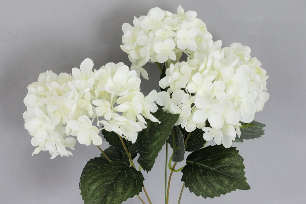 Hortenzia, umelý kvet, farba biela
