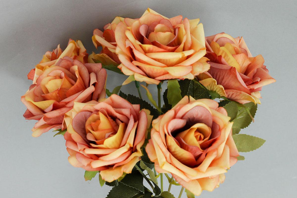 Růže puget, umělá květina, barva oranžová