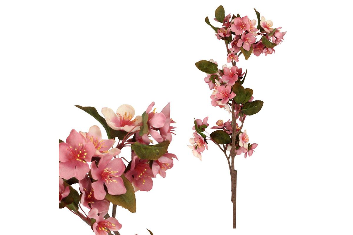 Umělá květina - květ hrušky, barva růžová
