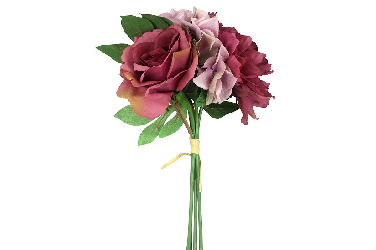Kytica ruží a pivónií, farba staro-ružová