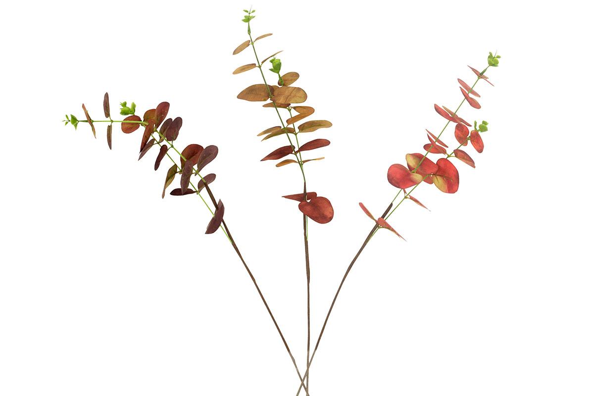 Umělá květina- eukalypt, mix 3 podzimních barev
