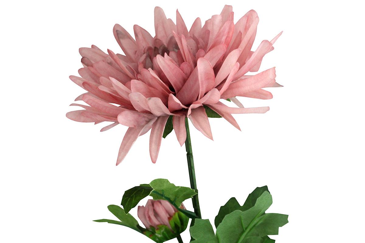 Umělá květina -  chryzantéma, barva světle filová