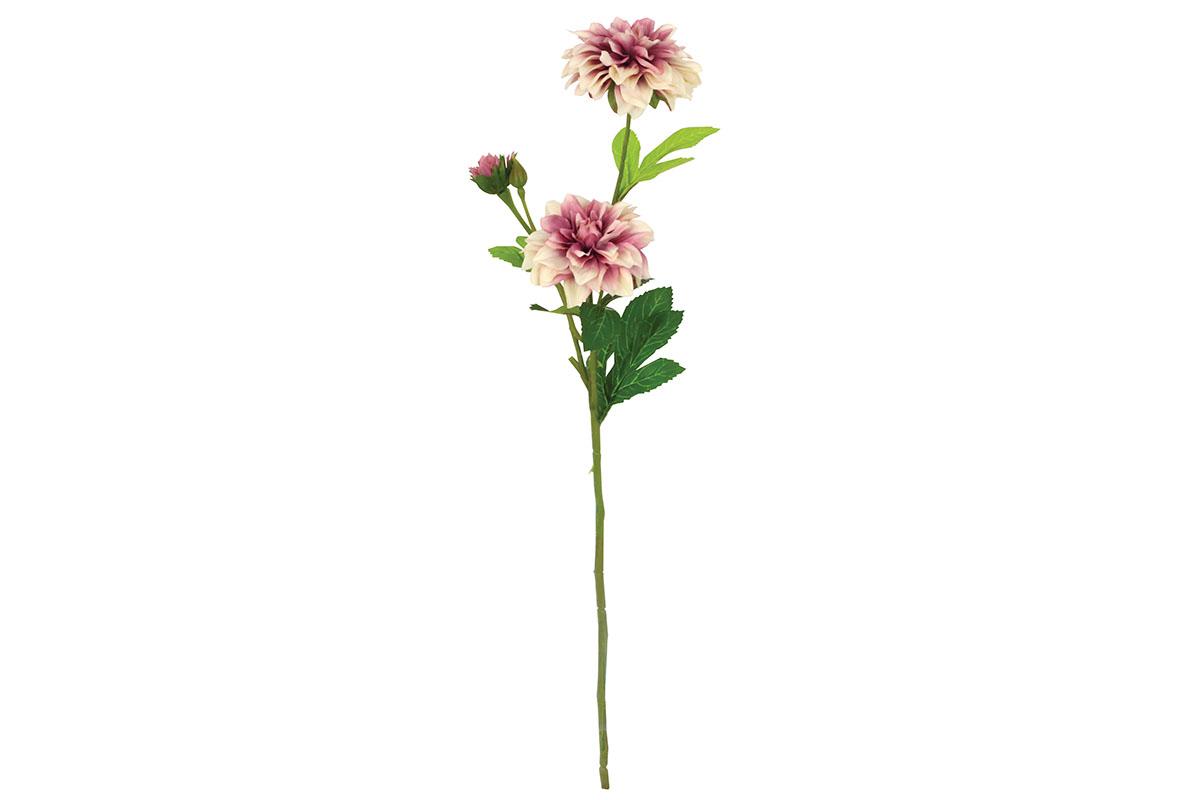 Umelý kvet  - dáhlia, tóny staro-ružovej farby
