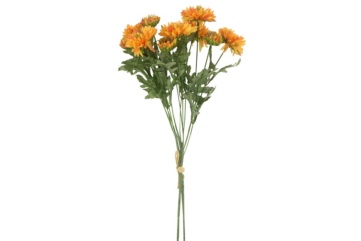Umělá květina - gerbera, barva oranžová