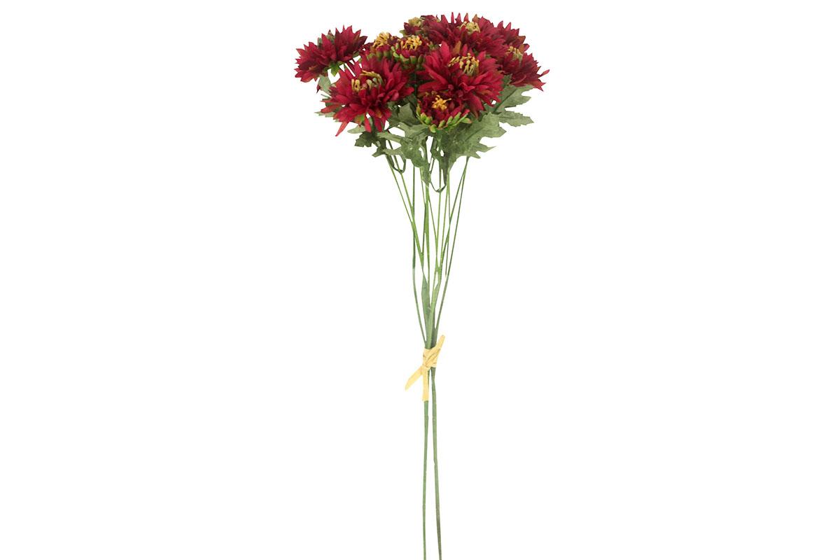 Umělá květina- gerbera, barva vínová