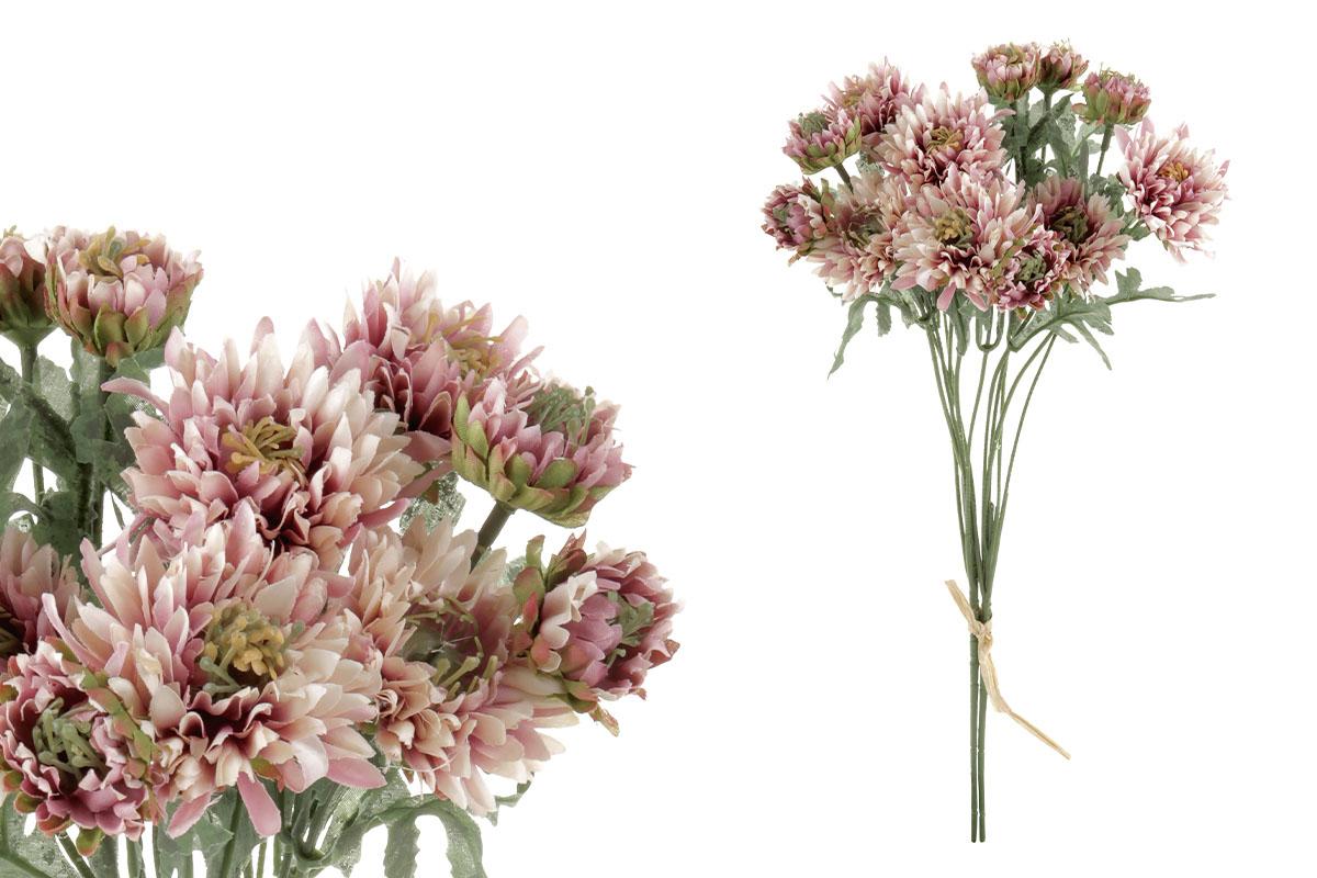 Umělá květina - gerbera, barva vínová