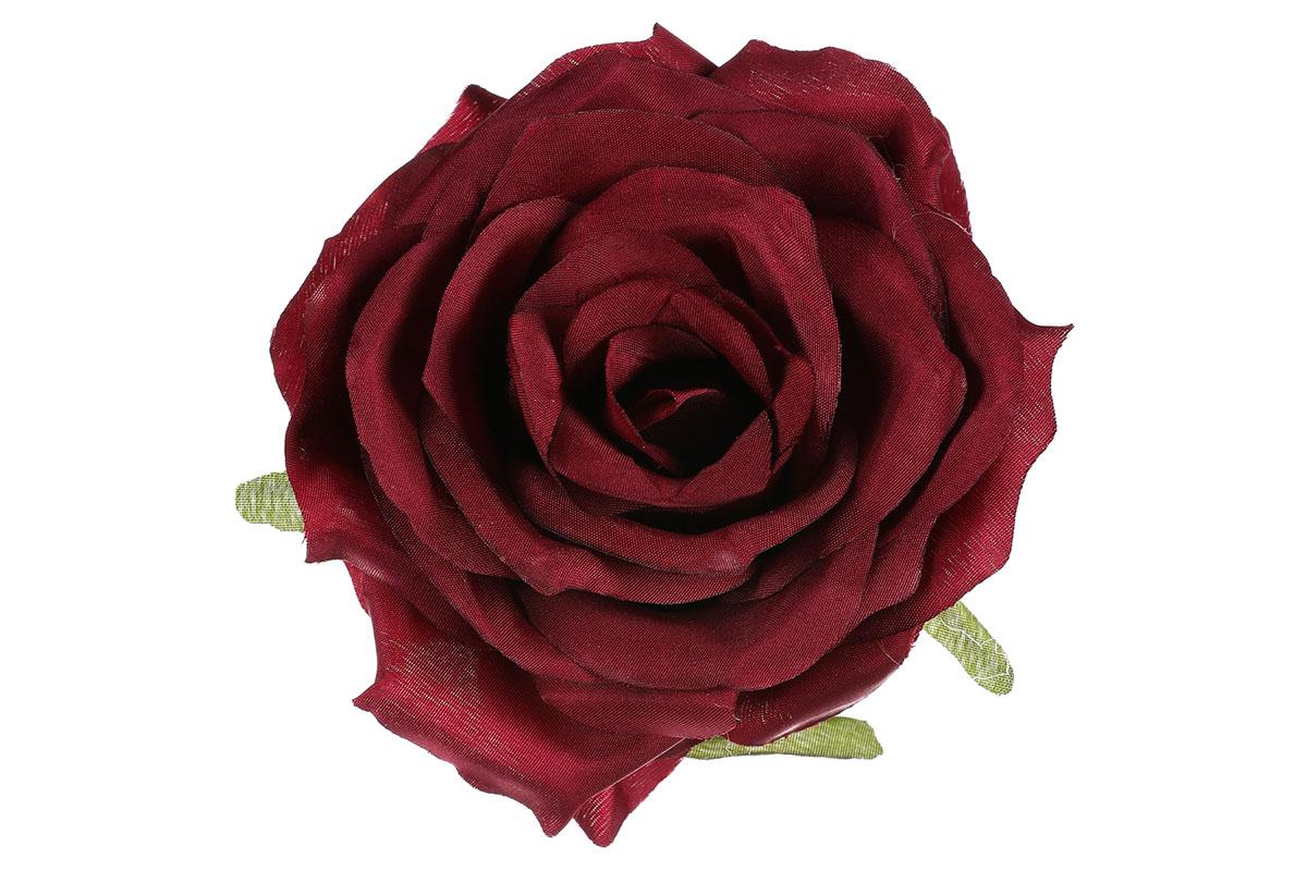 Květina vazbová, umělá růže, barva tmavě červená, cena za balení 12 kusů