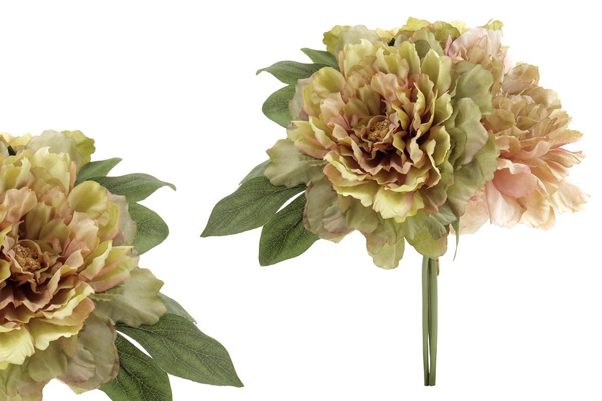 Hortenzie, puget z umělých květin, barva zelená