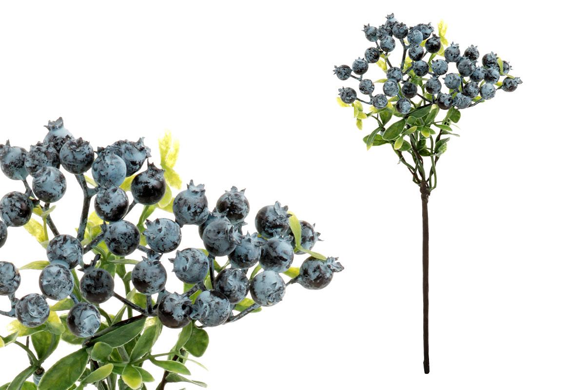 Borůvčí, umělá dekorace, barva modrá