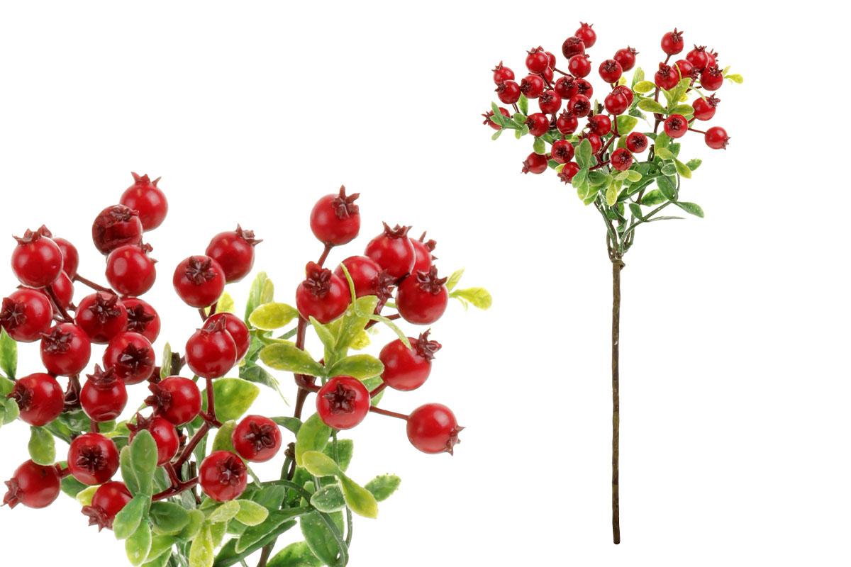 Borůvčí,  umělá dekorace, barva červená