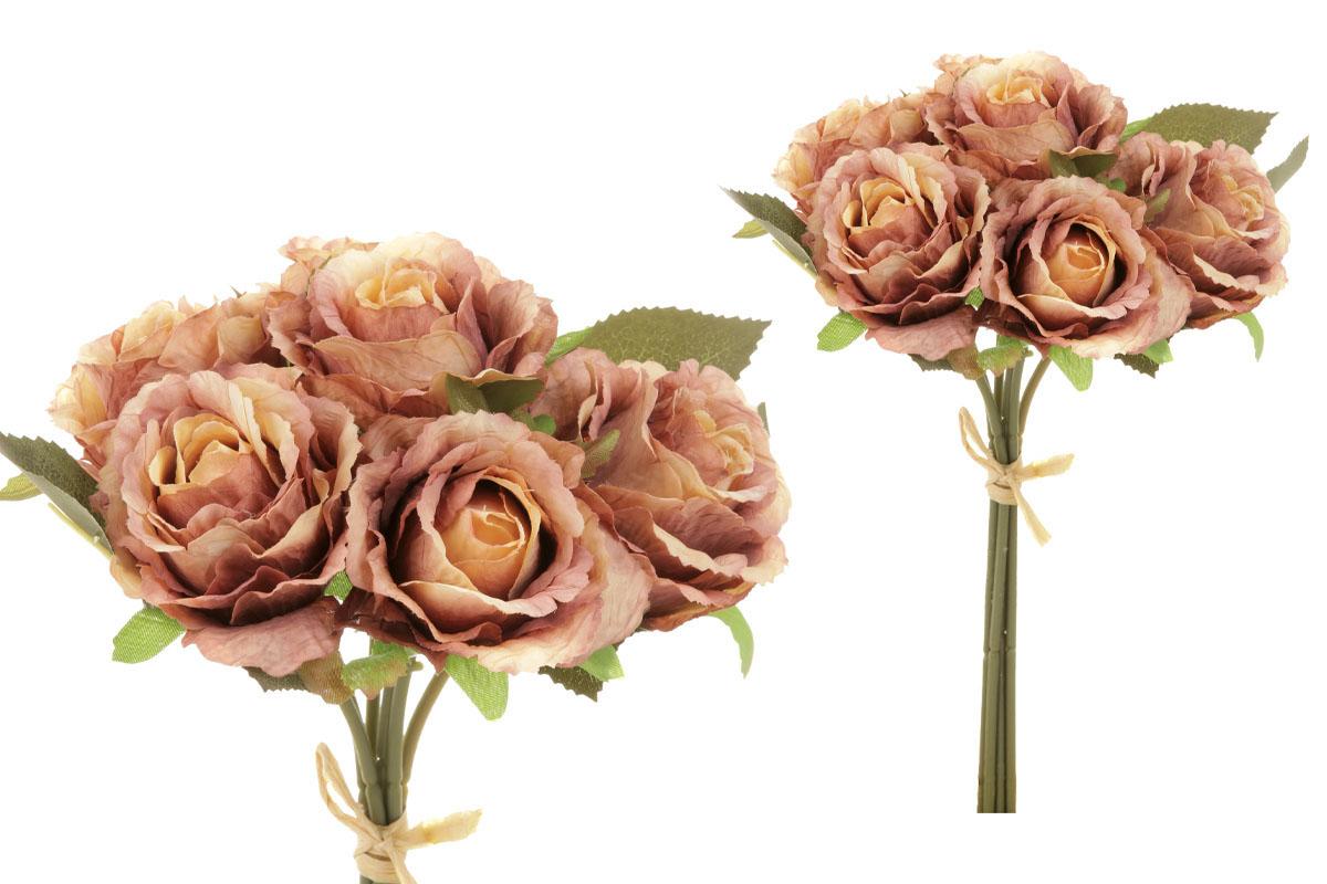 Puget růží - vzhled sušených růží, barva hnědo-žlutá.