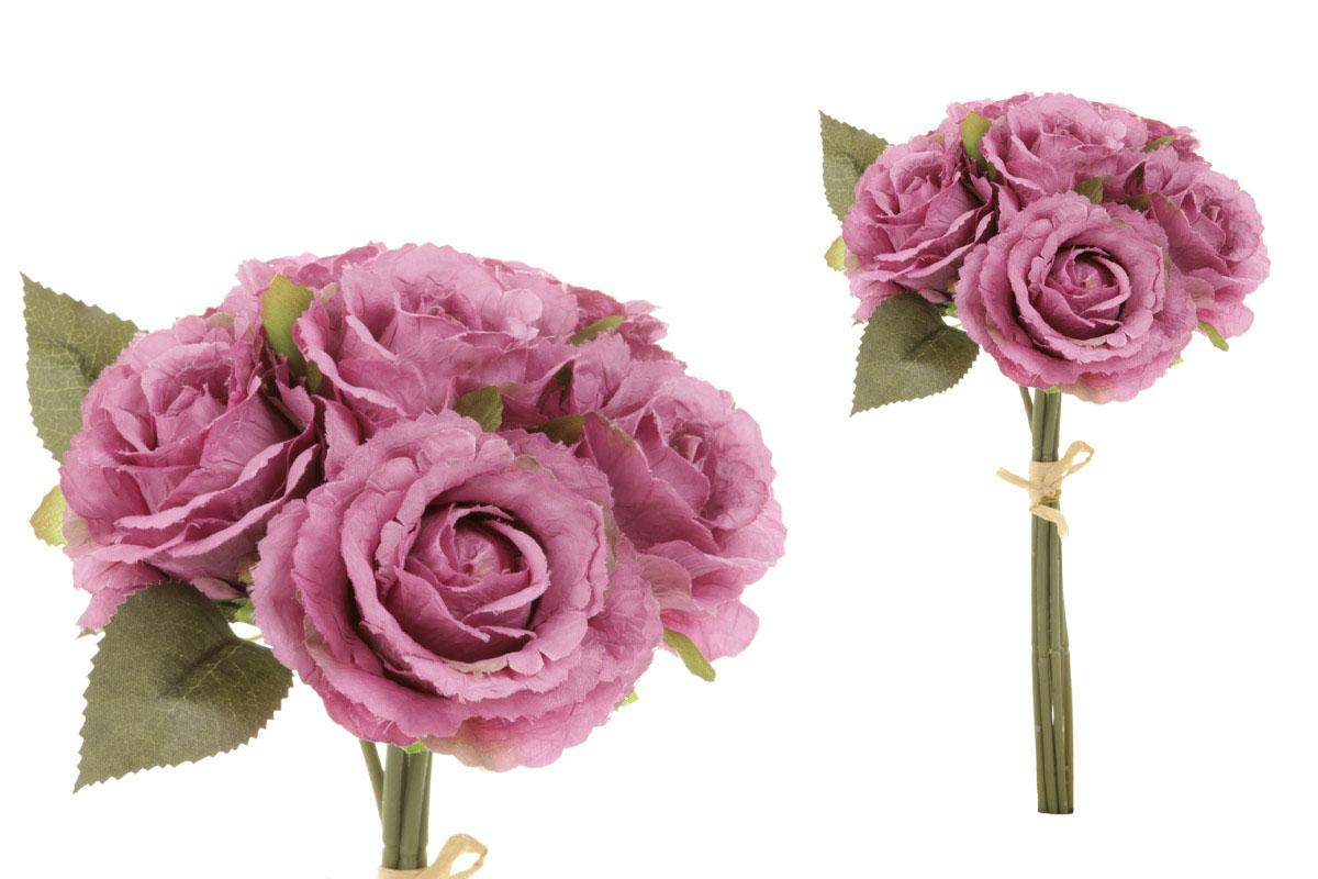 Puget růží - vzhled sušených růží, barva tmavá lila.